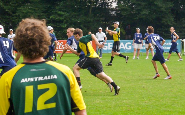 Finals of the Ultimate Frisbee competitions, USA-AUS, World Games 2005, Duisburg